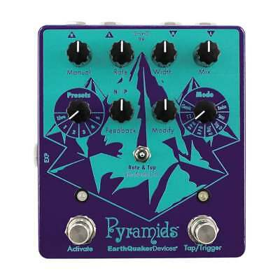 EarthQuaker Devices Pyramids Stereo Flanger Effects Pedal