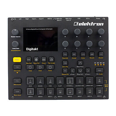 Elektron Digitakt 8-track Sampler And MIDI Sequencer With Effects • 574.68£