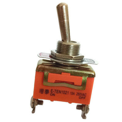 AC 250V 15A ON-OFF 2 Position SPST 2 Terminals Rocker Toggle Switch • 3.11£