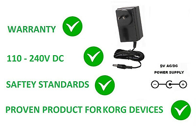 9v Ac Dc Power Supply Adapter For Korg Cliphit Clip Hit Replacement Ka-350 Ka350 • 18.88£
