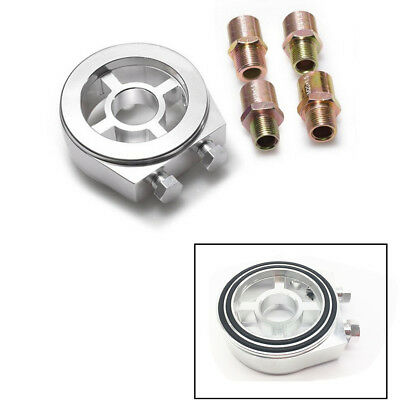 Silver Oil Filter Sandwich Plate Adapter With M20x1.5/M22/1.5/M18x1.5/3/4-16 UNF • 14.36£
