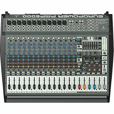 Behringer PMP6000 Active 20-Chan Powered Mixer Board 1600W Amplified W/ Effects • 631.85£