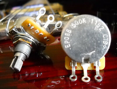 CTS 500K Short/Split Shaft Audio Taper Pot / Potentiometer ALLPARTS EP-086 • 3.57£