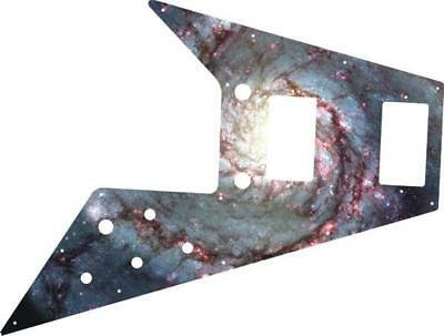 Gibson Flying V Pickguard for '67 Re-Issue Guitar Custom Graphical Spiral Galaxy
