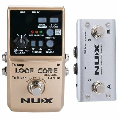 NUX Loop Core Deluxe Upgraded Guitar Loop Pedal With Foot Switch Automatic... • 120.61£