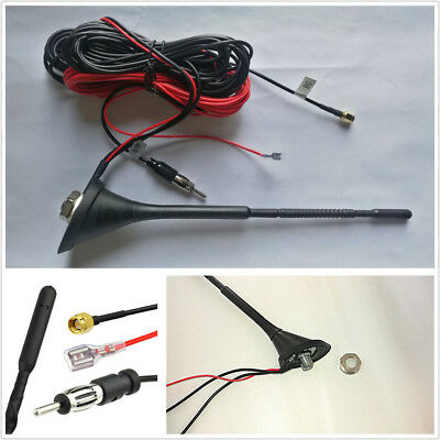 Car DAB/DAB+ Radio Aerial Amplified Roof Mount Antenna AM/FM SMA Male Connector • 25.18£