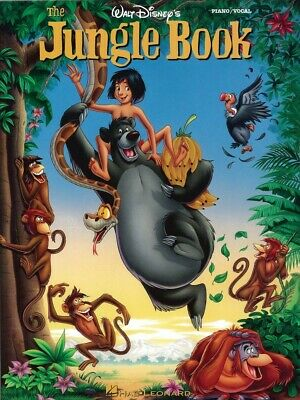 Walt Disney's The Jungle Book Sheet Music Piano Vocal Guitar Songbook 000360154 • 11.70£