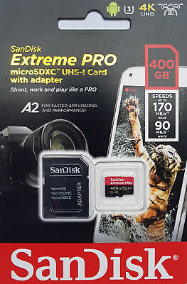 SanDisk  32 64 128 256 400GB Extreme PRO Micro SD SDXC  Memory Card UP TO 170MBs • 80.51£