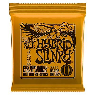 Ernie Ball 2222 Hybrid Slinky Electric Guitar Strings 9-46 Free Shipping • 5.34£