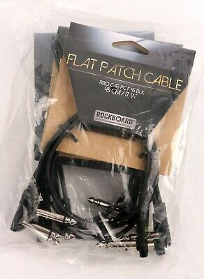 5-pack Rockboard© By Warwick© Flat Patch Pedal Board Guitar Cable 45 Cm / 17.72  • 14.56£