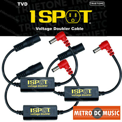 3-Pack Truetone TVD Pedal-Voltage-Doubler Cable 1-Spot 18V 24V No Switch Noise • 40.99£
