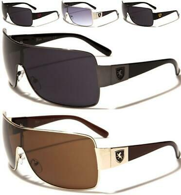 Oversized Pilot Wrap Sunglasses Designer Shield Uv400 Big Large Khan Mens Uv400 • 12.89£