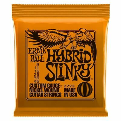 Electric Guitar Strings - Ernie Ball 2222 - Hybrid Slinky - Nickel Wound - 9-46 • 7.29£