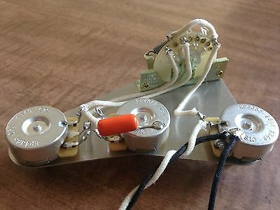 Fender Stratocaster Wiring Harness 250k CTS CRL 5 Way Switch .022 Orange Drop • 38.82£