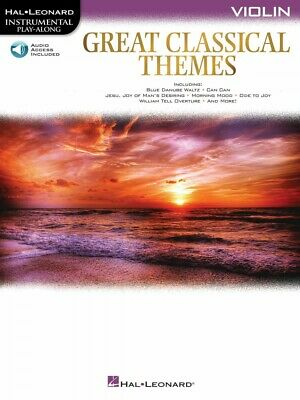Great Classical Themes Violin Instrumental Play-Along Book And Audio 000292736 • 8.52£