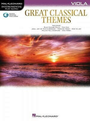 Great Classical Themes Viola Instrumental Play-Along Book And Audio 000292737 • 8.23£