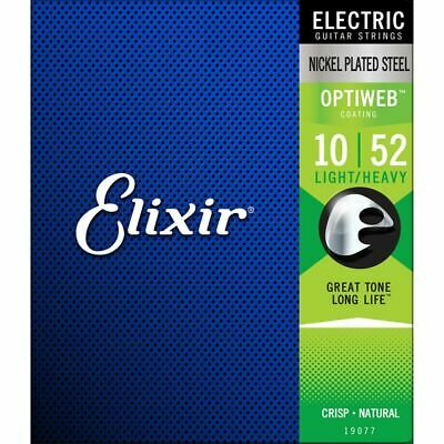 Elixir Optiweb Electric Guitar Strings 19077 Nickel Plated - Light/heavy 10-52 • 13.99£