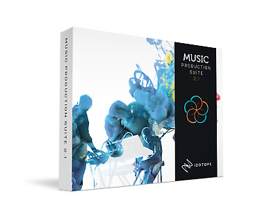 New Izotope Music Production Suite 2.1 + R2 Stereo Reverb Bundle eDelivery