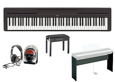 Yamaha P-45 Digital Piano Bundle VII With L-85 Stand, Piano Bench And Headphones • 623.63£