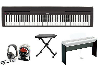Yamaha P-45 Digital Piano Bundle II With L-85 Stand, Bench And Headphones • 595.67£