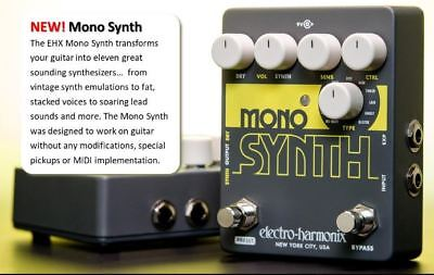 ELECTRO-HARMONIX Guitar Mono Synth Effects Pedal • 97.34£
