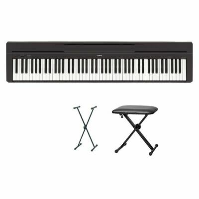 Yamaha P-45 Digital Piano Bundle VI With X Stand And Bank • 486.10£
