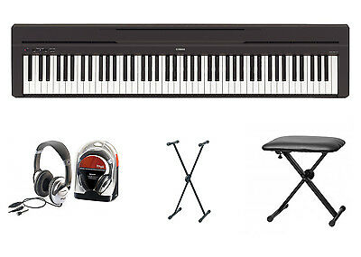Yamaha P-45 Digital Piano Bundle IV With X Stand, Bench And Headphones • 474.48£