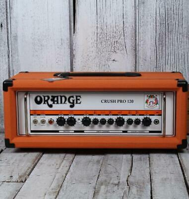 Orange Crush Pro CR120H Electric Guitar Amplifier Head 2 Channel Solid State Amp • 366.37£