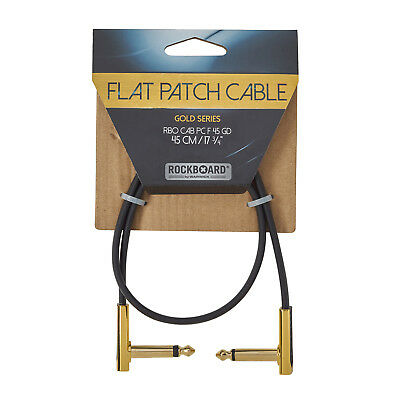 Rockboard Gold Flat Patch Cable 45 Cm - Patchkabel With Flattened Plugs • 8.66£