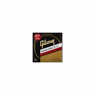 GIBSON Coated Phosphor Bronze Acoustic Guitar Strings, Ultra-Light Gauge 011-052 • 8.44£