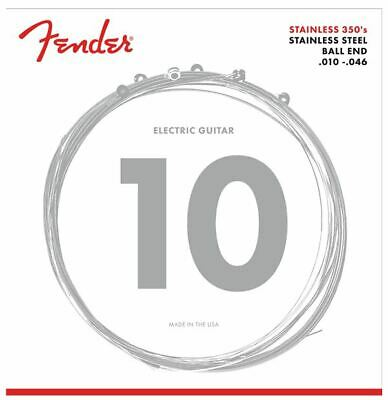 FENDER Stainless 350's Strings, Stainless Steel, Ball End, 350R .010 046 • 4.87£