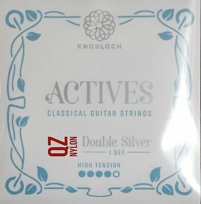 KNOBLOCH-STRINGS 500ADQ Actives Double Silver Qz Nylon, High Tension