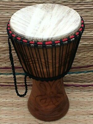 Genuine African 14  Djembe With Half Price Drum Bag. • 139£