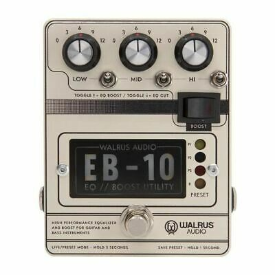 Walrus Audio EB-10 Preamp // EQ // Boost [Cream] • 176.85£