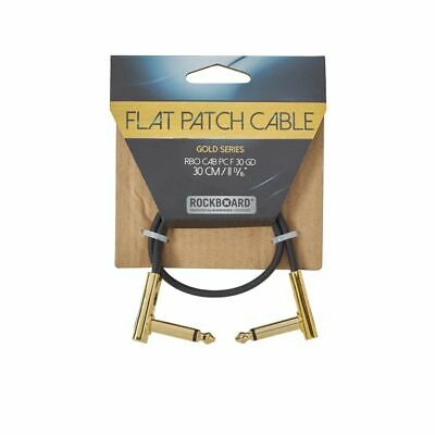 ROCKBOARD Gold Flat Patch Cable 30 CM - Patchkabel With Flattened Plugs