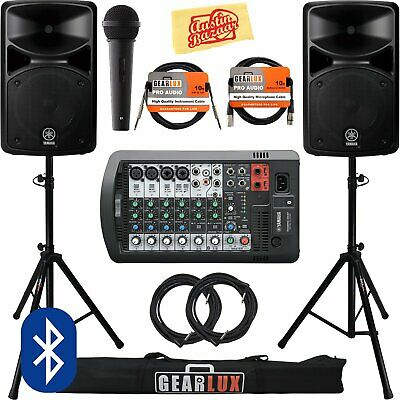 Yamaha Stagepas 400Bt Portable Pa System Bundle  BRAND NEW ITEM!! • 847.20£