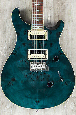 PRS Paul Reed Smith SE Custom 24 Poplar Burl Guitar, Rosewood Board, Whale Blue • 691.67£