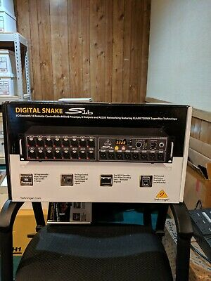 Behringer S16 Digital Snake In Out I/O Box MIDAS Preamps NEW • 764.39£
