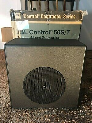 JBL Control 50S/T Subwoofer Black Surface Mount For Satellite Control 50 Sub Pro • 77.20£