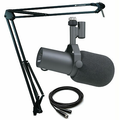 Shure SM7B Broadcast Microphone With Heil Sound HB-1 Microphone Boom Mount • 359.87£