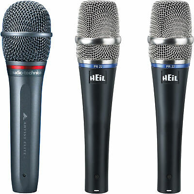 2x Heil Sound PR22 With Audio Technica AE4100 Vocal Microphone Set PR-22 AE-4100 • 262.51£