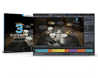 Toontrack Toon Track Superior Drummer 3.0 Virtual Drumming Software Pc&mac Boxed • 235£