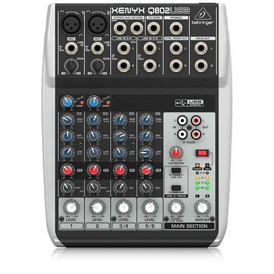 Behringer Premium 8 Input 2 Bus Mixer With XENYX Mic Preamps/Compressors/British • 75.71£
