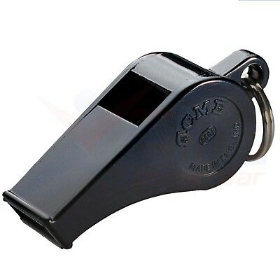 Acme Thunderer Plastic Whistle Black Official Football Referee Safety Whistle • 3.99£