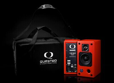 Quested V2104 Monitor Speakers - SPECIAL EDITION MINIREDZ + Carry Case BRAND NEW • 1,750£