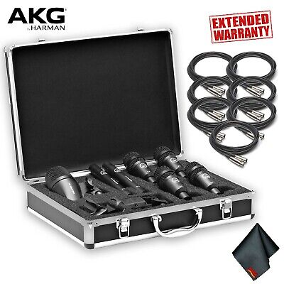 AKG Drum Set Session I Drum Microphone Set +7 X XLR Cables AND 1-Year Extended W • 371.28£