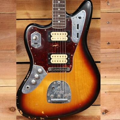 FENDER KURT COBAIN JAGUAR Lefty ROAD WORN + OHSC + Papers Left Handed 49842 • 1,222.78£