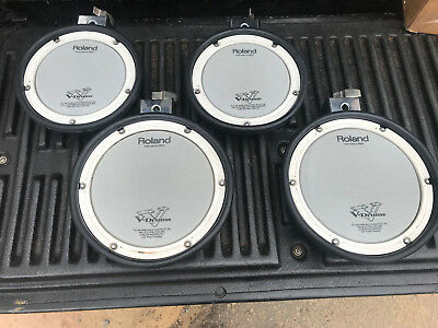 FOUR PACK Roland PDX-6 PDX-8 Dual Trigger Mesh Head V Drum Pad PDX6 8 • 220.24£