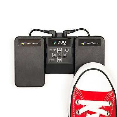 AirTurn DUO 200 Silent Bluetooth Pedal Page Turner Teleprompt App Controller • 71.71£