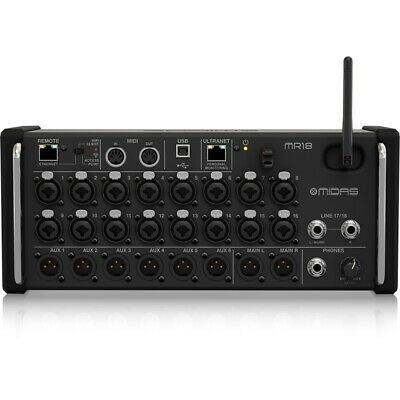 Midas MR18 18-Input Digital Mixer For IPad/Android Tablets W/ MIDAS PRO Preamps • 942.31£